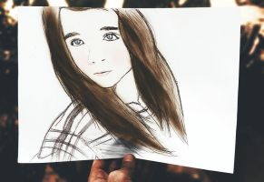 Beautiful Girl Drawing *-* by KhaledReese