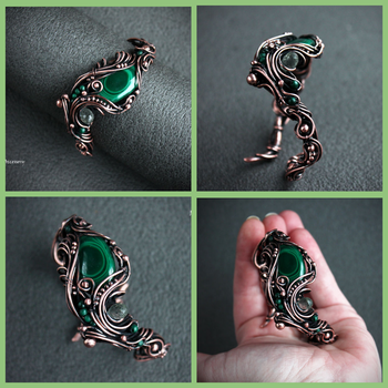 Bracelet with malachite by MDorothy