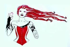 a red girl by fink