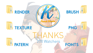 Thanks 200 Watchers [Pack ressource] by Kizozora