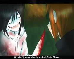 Jeff vs Slender Creepypasta by JinxPiperXD