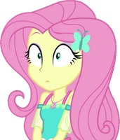 [Vector] Fluttershy shocked  by TheBarSection