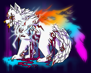 Shiranui the White Wolf by SilvestrisDream