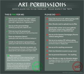 Art Permissions by TaniDaReal