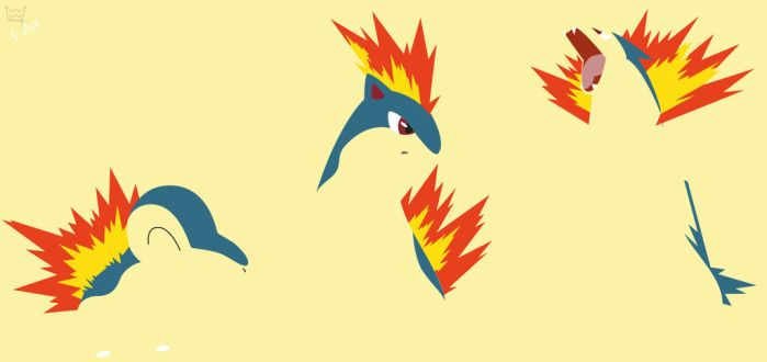 Cyndaquil evolution by S--Art