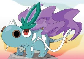 Freaky Fusion: Hippopotas x Suicune