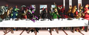 Order of No Quarter: Last Supper by FelineHeretic