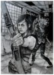 Grown Ellie - Endure and survive - The last of us by Hollow-Moon-Art