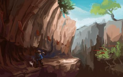 Elnor's gorge by Pendalune