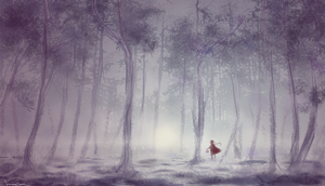 Little Red Riding Hood- in the forest- by SaraFormosa