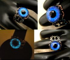 The Living Blue Ring - glow dragon eye by LadyPirotessa