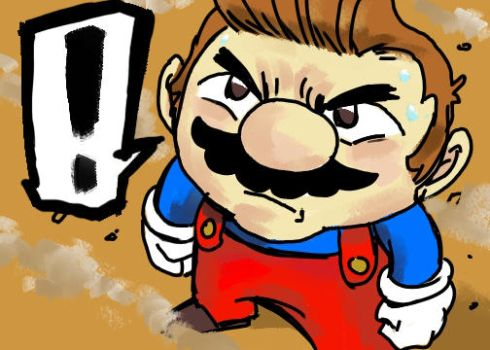 Determined Mario by MorganLuthi