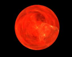 Red-Orange Orb Fractal stock by MysticrainbowStock