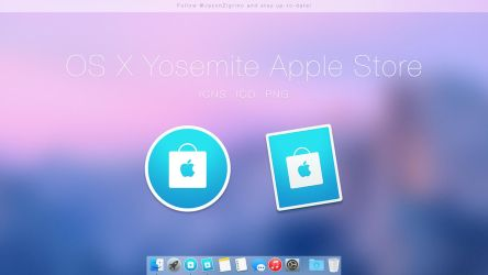 OS X Yosemite Apple Store Icons by JasonZigrino