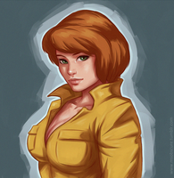 April O'Neil by MsObscure