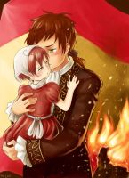 Protective Spain and Romano by sammich