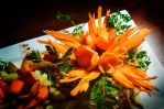 Food Carving - Carrot Flower Composition by XResch