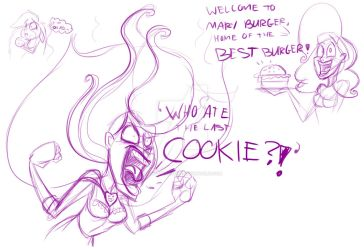 Mary Sue last cookie sketch dump by Mad--Munchkin