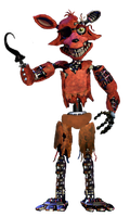Withered Foxy Full body by JoltGametravel