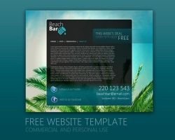 Beach Bar Website PSD by Martz90