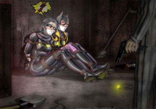 Black Bat and Batgirl in a bad situation by 6206