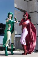 Classic Polaris and Scarlet Witch by itsthekitsunekid