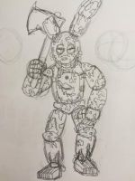 Springtrap the Animatronic Destroyer by WitheredFreddy1993