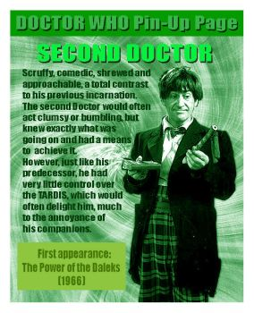 DOCTOR WHO PIN-UP PAGE 30:  The Second Doctor by tyrannus1