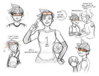 Tracer Volleyball 2.Overwatch by sexyfairy
