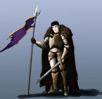 Guy with spear and sword by HenryBiscuitfist