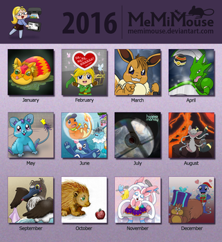 2016 Summary Of Art Meme by MeMiMouse