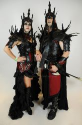 Vampire queen and king  leather armor by Lagueuse