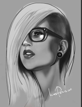 Sara Fabel iPad painting by iliasPatlis