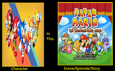What if Sonic Mania cast in Paper mario by KeybladeMagicDan