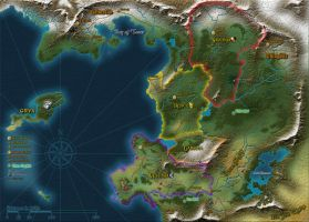 Unnamed Fantasy World Map by Tensen01