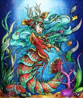 Isi Dawndancer in Great Scarrier Reef by SiriraLiluria