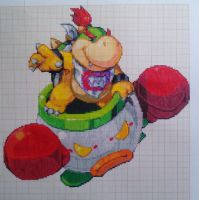 Pixel art Super smash bros: Bowser Jr by PaintPixelArt