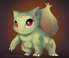 Fall Bulbasaur by TheNornOnTheGo