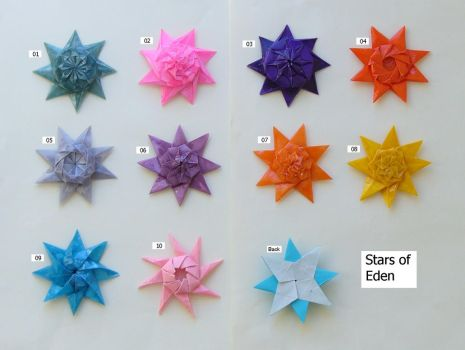 Stars of Eden, set 01-10 by Figuer