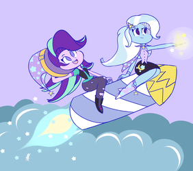 Trixie's ride! by Angelloveponyheart