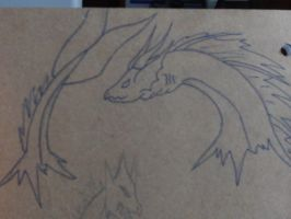 Sea Dragon Doodle by AbyssinalPhantom