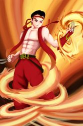 Saint Fighter Fire by cacingkk