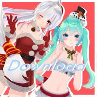 (Christmas collab)Tda Snow girl miku Dl!!! by moyionma