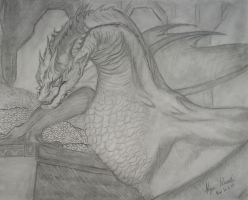 Smaug drawing 1. by kworking