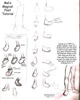Foot Tutorial by CorvidCatastrophe