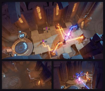 Archaica: The Path of Light - Library, Desert City by MarcinTurecki