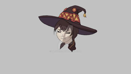 Megumin Drawing Finished by lloyd190