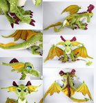 Poseable Emerald Dragon by WhittyKitty