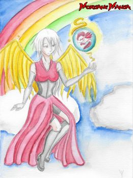 Angel and Axolot by Morgane-Mangas