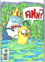 Swamp Thing Adventure Time blank comic book cover by johnnyism
